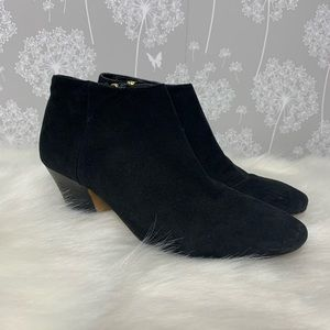 Ivanka Trump Ankle Boots Size 6.5 M Black Suede